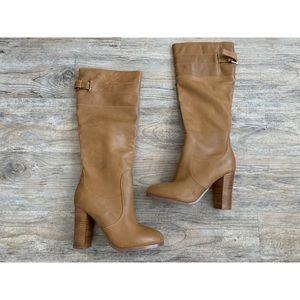 KELSI DAGGER Leather Heeled Boots